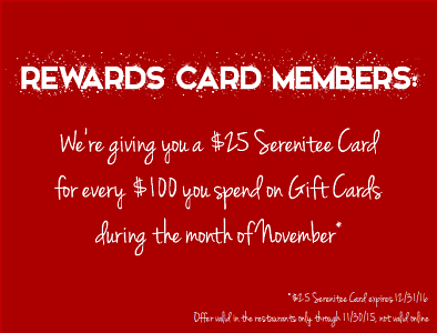 CRAZY AWESOME SERENITEE GIFT CARD DEAL…